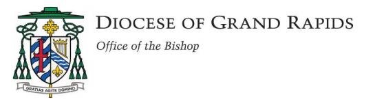 Suspendidas misas públicas en toda la Diócesis de Grand Rapids