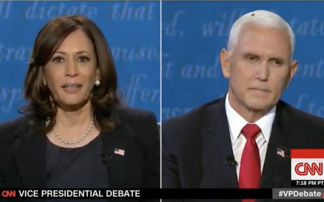 Una mosca, la 'invitada' al debate Pence-Harris que se viralizó