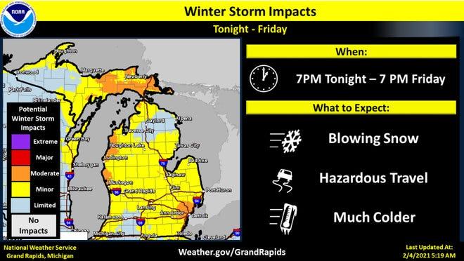 La nieve durante la noche del jueves marcará el comienzo de temperaturas frías que permanecerán en todo el estado